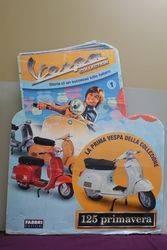 Piaggio Vespa Pictorial Cardboard Advertising Sign