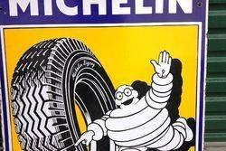 Pictorial Michelin Shield Enamel Advertising Sign