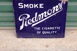 Piedmont Cigarette Double Sided Enamel Sign