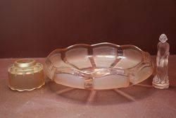 Pink Art Deco Float Bowl