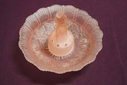Pink Glass Deco Flint Bowl