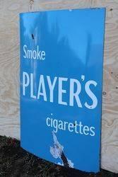 Playerand39s Cigarettes Enamel Advertising Sign