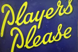 Players Please Double Sided Enamel Tobacco Advertising Sign
