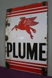 Plume Enamel Advertising Sign