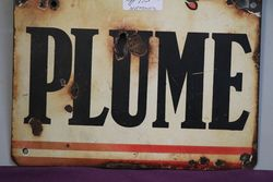 Plume Vacuum Oil Company Enamel Advertising Sign