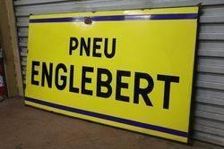 Pneu Englebert Tyre Enamel Advertising Sign