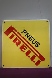 Pneus Pirelli Enamel Advertising Sign