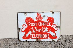 Post Office Double Sided Enamel Sign