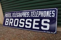 Postes  Telegraphes Brosses French Enamel Advertising Sign