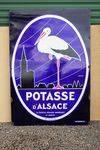 Potasse Dand96alsace Enamel Sign
