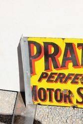 Pratts Petroleum Double Sided Enamel Advertising Sign