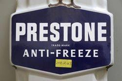 Prestone AntiFreeze Enamel Advertising Thermometer Sign