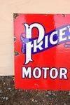 Prices Motor Oils Enamel Sign