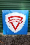 Purfina Boxed Enamel Sign