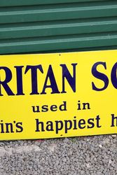Puritan Soap Enamel Advertising Sign