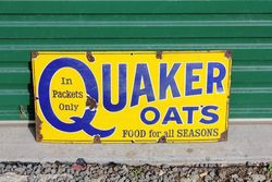 Quakers Oats Enamel Advertising Sign