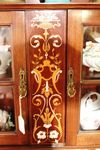 Quality Inlayed Mahogany Parlor Cabinet English C1900