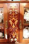 Quality Inlayed Mahogany Parlor Cabinet English C1900