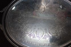 Quality Large Early Twentieth Century Silver Plated Tray