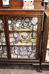 Quality Mahogany 2 Door Display Cabinet C1920
