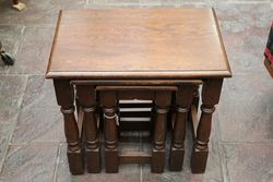 Quality Oak Nest of 3 Tables