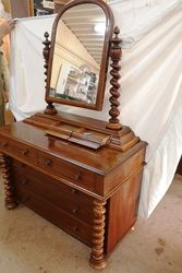 Quality Victorian Mahogany Dressing Chest
