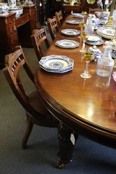 Quality Victorian Set of 10 Oak Dining Chairs