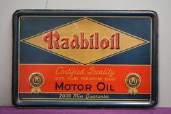 Radbiloil Advertising Tin Sign