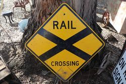 Rail Crossing Aluminium Road Safety Sign