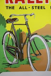 Raleigh All Steel Bicycle Pictorial Enamel Sign