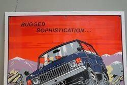 Range Rover Pictural Advertising Enamel Sign