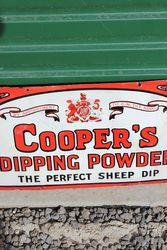 Rare Coopers Dipping Powder Enamel Advertising Sign