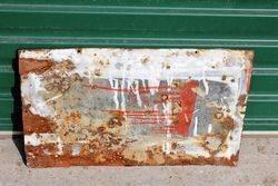Rare Coopers Dipping Powder Enamel Advertising Sign