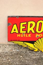Rare Double sided AeroShell Enamel Sign