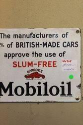 Rare Mobil Gargoyle Slum Free Enamel Sign