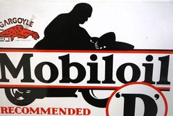 Rare Mobiloil Gargoyle D Enamel Sign
