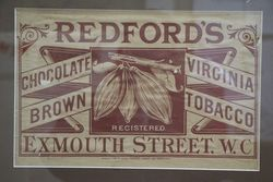 Redford+39s Tobacco Framed Advertising Poster