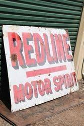 Redline Motor Spirit Enamel Advertising Sign