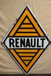 Renault Cars Double Sided Enamel  Advertising Sign