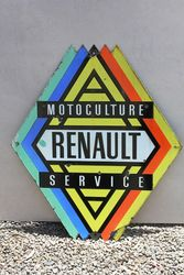 Renault Service Double Sided Enamel Advertising Sign