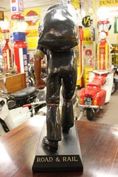 Restored Antique Phurnod Coal Advertising Figure