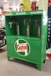Restored Castrol Triple Pump Bread Bin Oil Dispenser