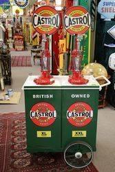 Restored Genuine Castrol Wakefield Square HiBoy Double Oil Pump Dispenser