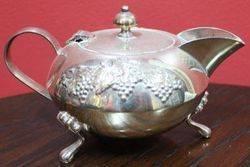 Retro 3Piece Silver Plated Tea Set