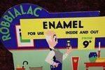 Robbialac Enamel Shop Display Card
