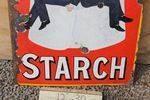 Robin Starch Enamel Sign