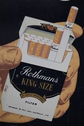 Rothmans Cigarettes Sold Here Metal Tin Sign