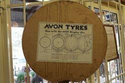 Round Avon Advertising Card Sign