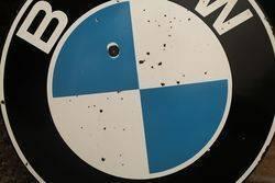 Round BMW Enamel Advertising Sign