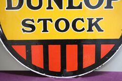 Round Dunlop Stock Advertising Sign